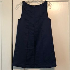 Alice + Olivia x Scoop box pleat navy dress